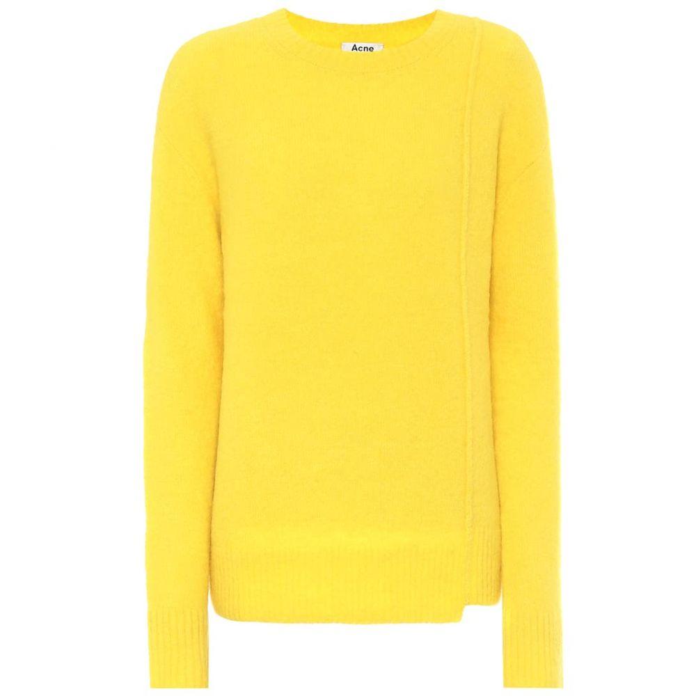 アクネ ストゥディオズ Acne Studios レディース ニット・セーター トップス【Asymmetric sweater】Canary Yellow