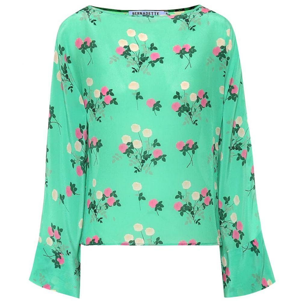 ベルナデッタ Bernadette レディース トップス 【Gemma floral silk top】Floral Pink/Green