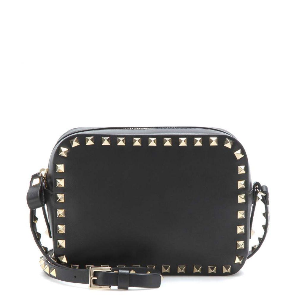 ヴァレンティノ Valentino レディース ショルダーバッグ バッグ【Garavani Rockstud leather crossbody bag】Nero