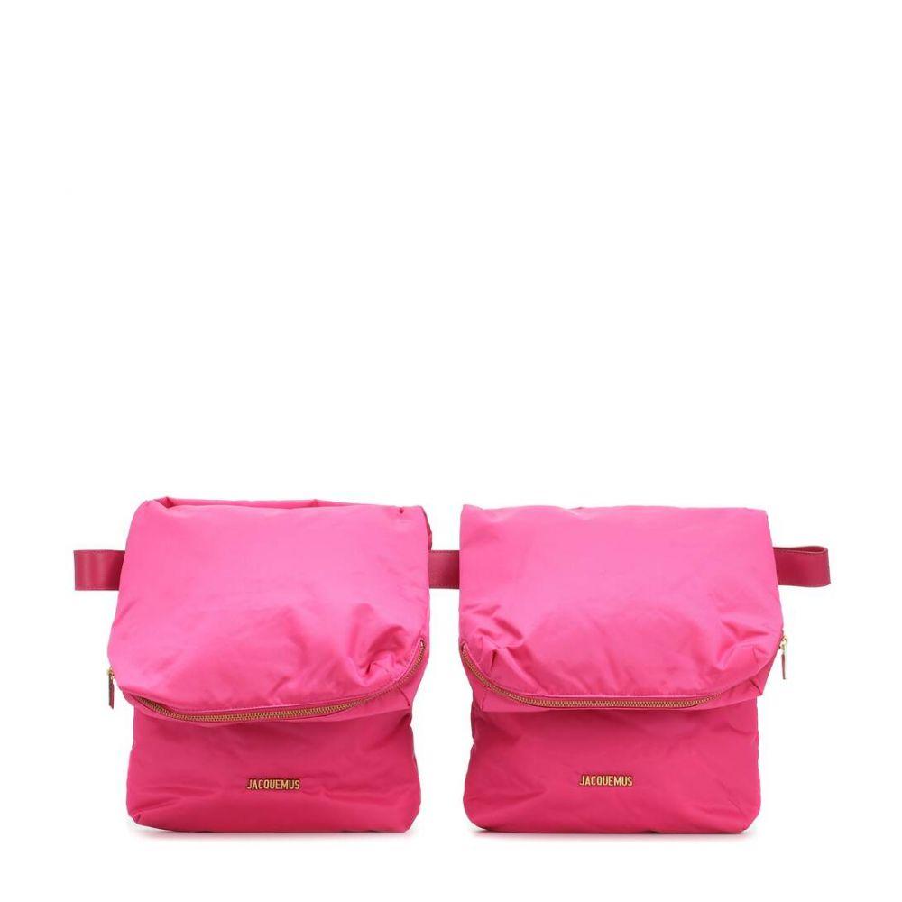 ジャックムス Jacquemus レディース ボディバッグ・ウエストポーチ バッグ【La Ceinture Banane nylon belt bag】Pink