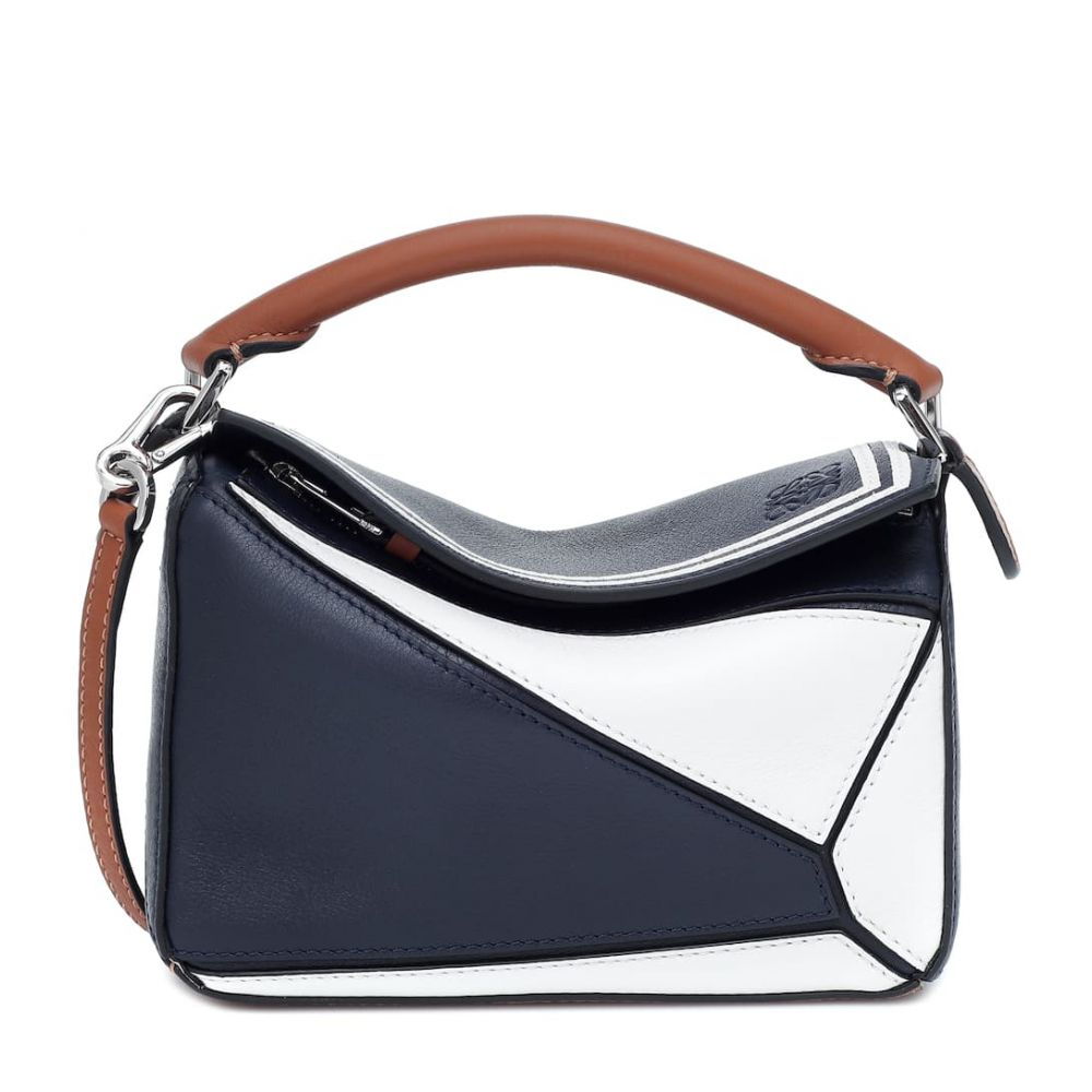 ロエベ Loewe レディース ショルダーバッグ バッグ【Puzzle Mini leather shoulder bag】Deep blue/Soft white