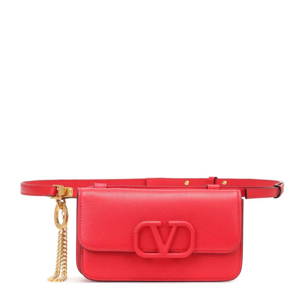 ヴァレンティノ Valentino レディース ボディバッグ・ウエストポーチ バッグ【Garavani VSLING leather belt bag】Rouge Pur