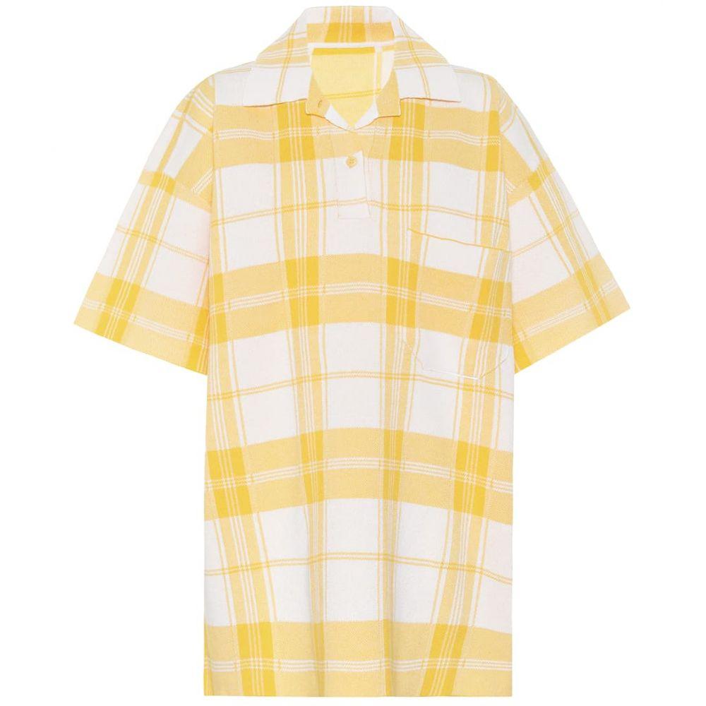 ジャックムス Jacquemus レディース ポロシャツ トップス【Le Polo Torchon checked polo shirt】Yellow Checked