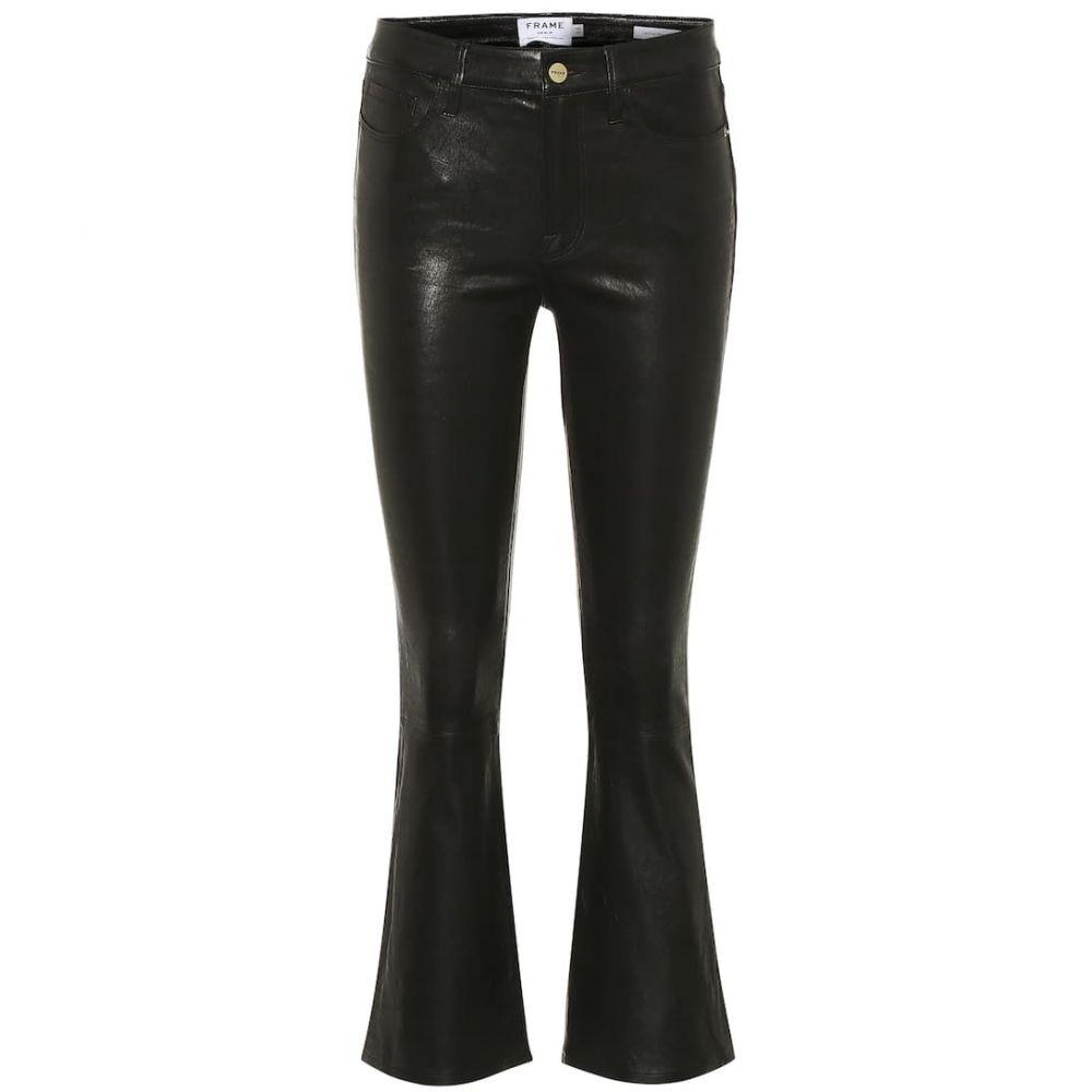 【おしゃれ】 フレーム Frame レディース ボトムス・パンツ 【Le Crop Mini Boot leather jeans】Washed Black, 大越仏壇 abda725d