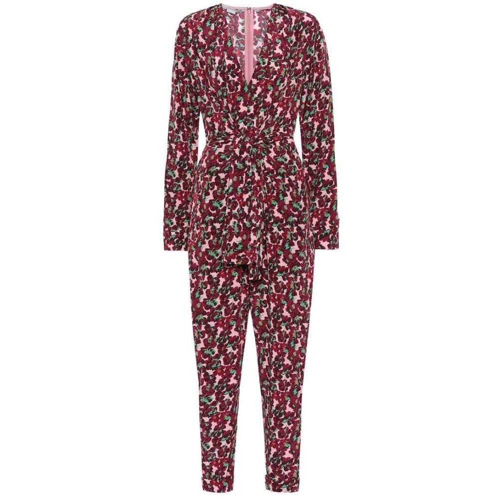 ステラ マッカートニー Stella McCartney レディース オールインワン ジャンプスーツ ワンピース・ドレス【Floral silk jumpsuit】Mlc Pink