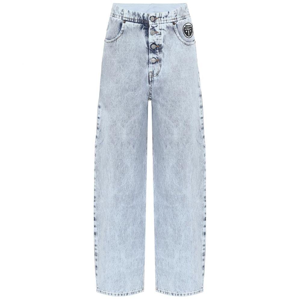 メゾン マルジェラ MM6 Maison Margiela レディース ジーンズ・デニム ボトムス・パンツ【High-rise wide-leg jeans】Blue 80's Snow