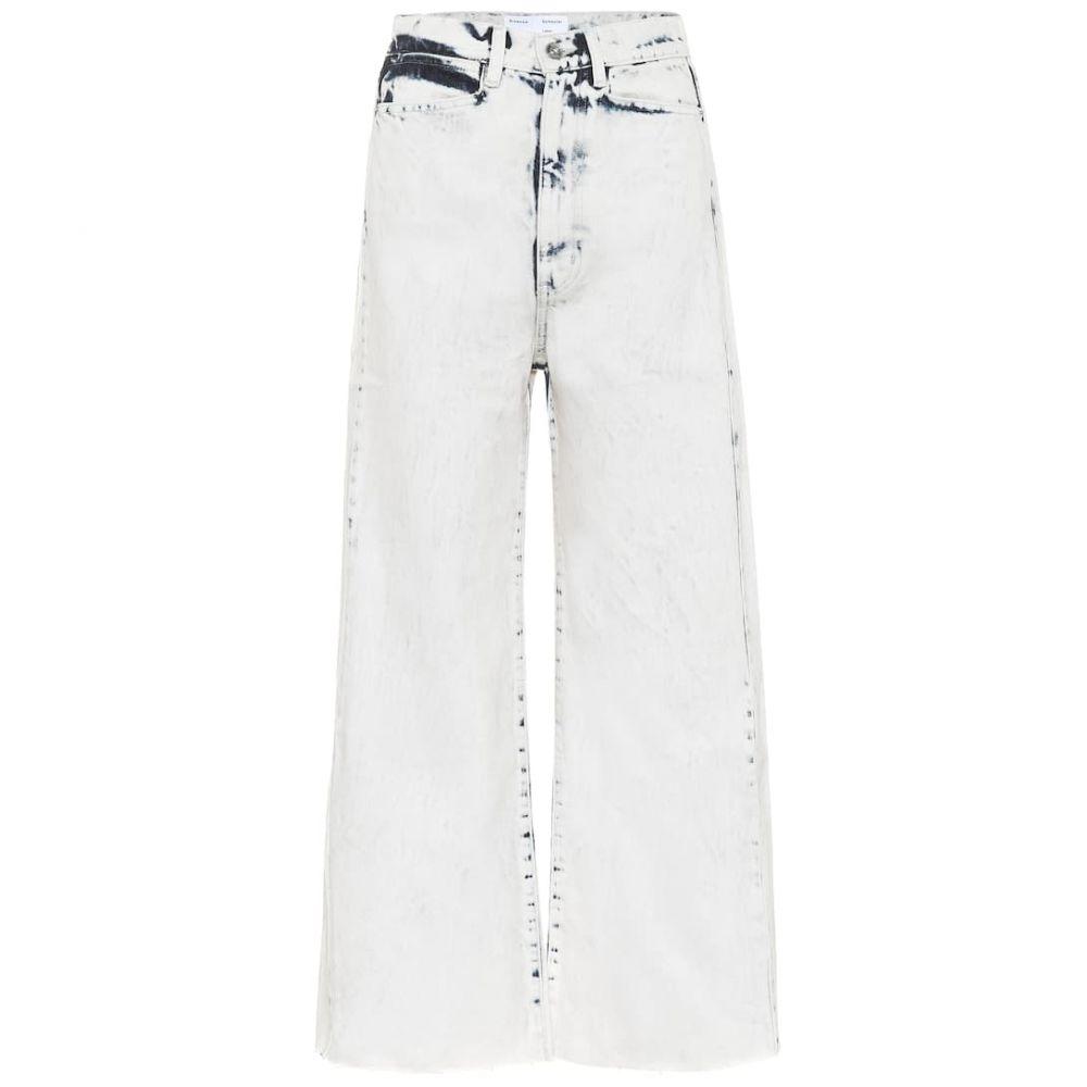 プロエンザ スクーラー ホワイト レーベル Proenza Schouler White Label レディース ジーンズ・デニム ボトムス・パンツ【Wide-leg high-rise jeans】Bleach Out