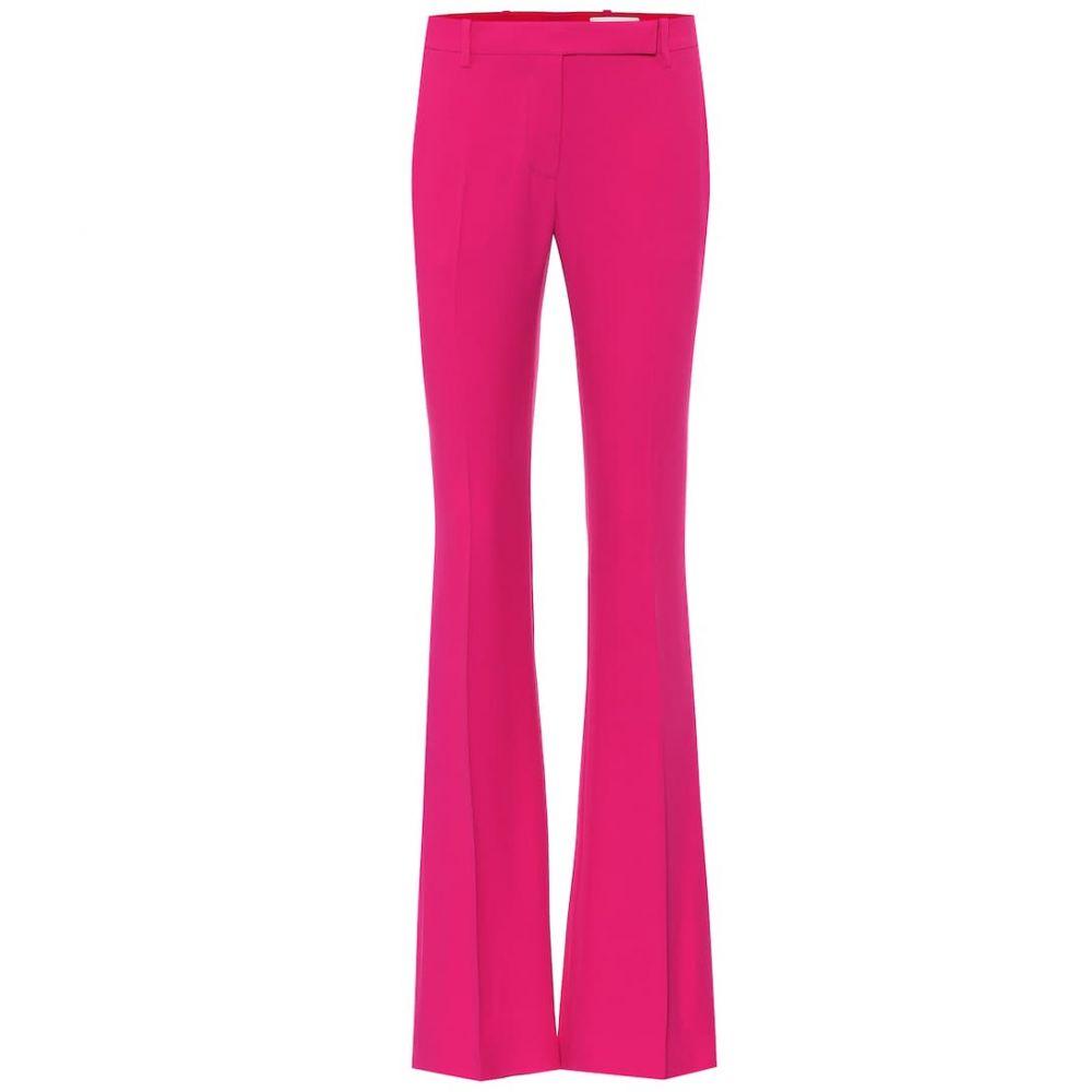 アレキサンダー マックイーン Alexander McQueen レディース ボトムス・パンツ 【Mid-rise flared crepe pants】Orchid Pink