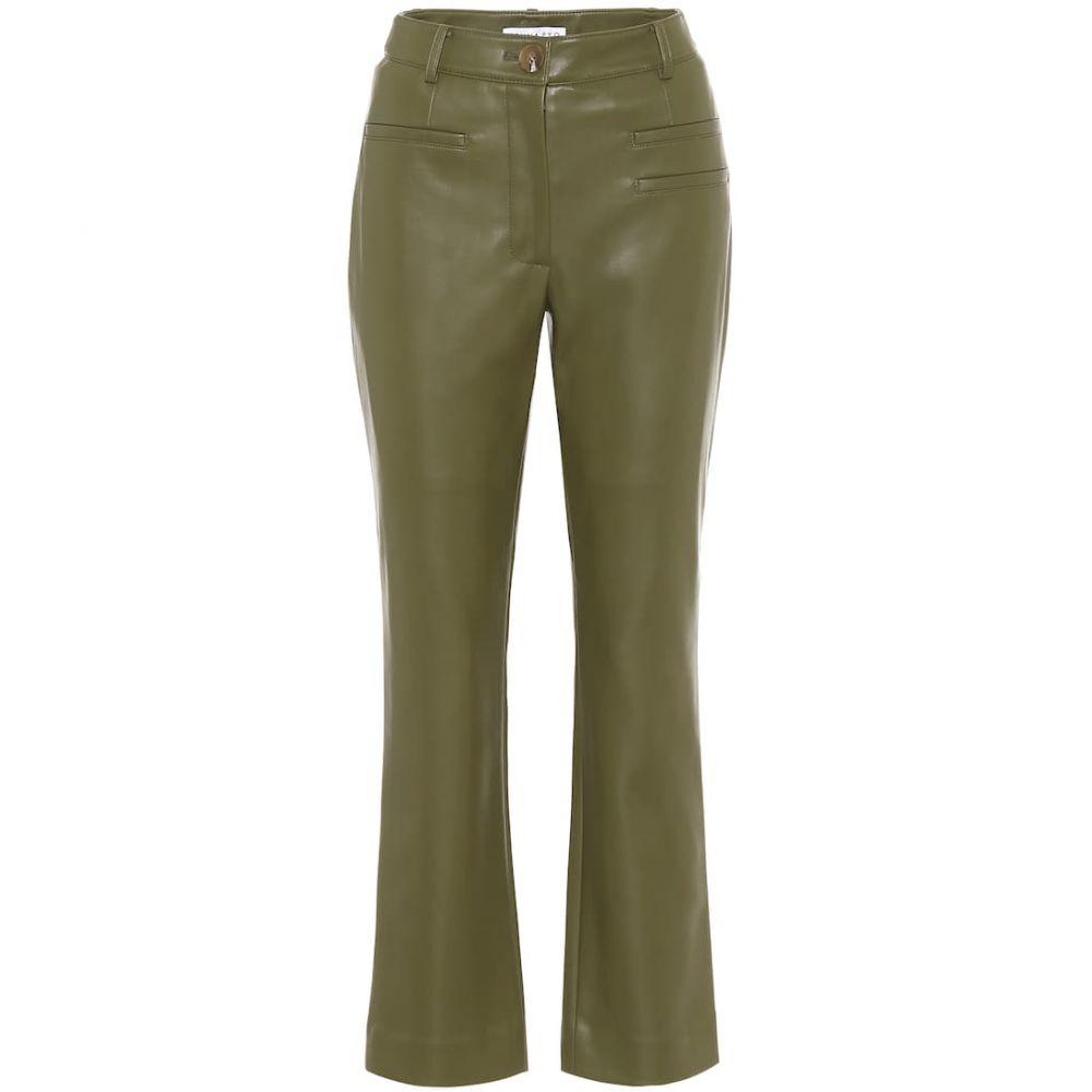 レジーナ ピヨ Rejina Pyo レディース ボトムス・パンツ 【Finley high-rise faux-leather pants】Sage Geen