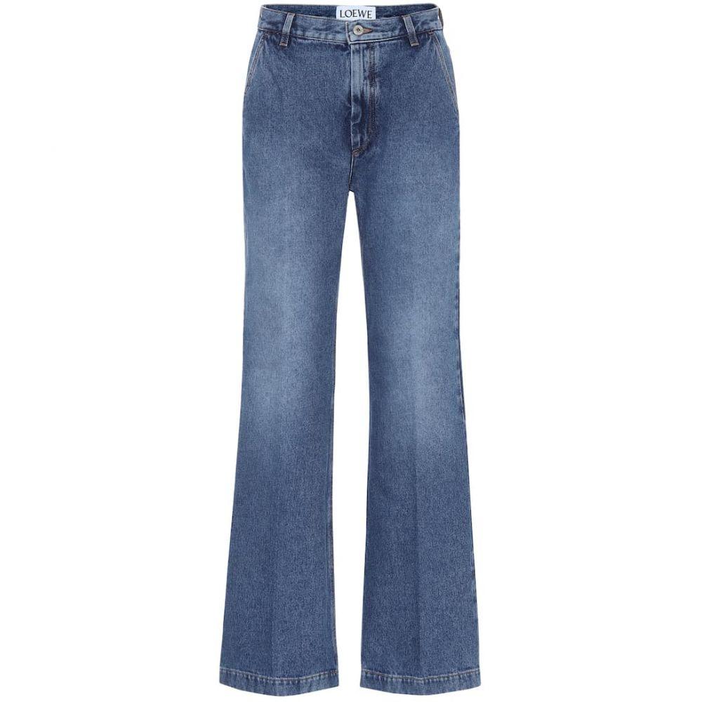 ロエベ Loewe レディース ジーンズ・デニム ボトムス・パンツ【High-rise flared jeans】Wash Denim