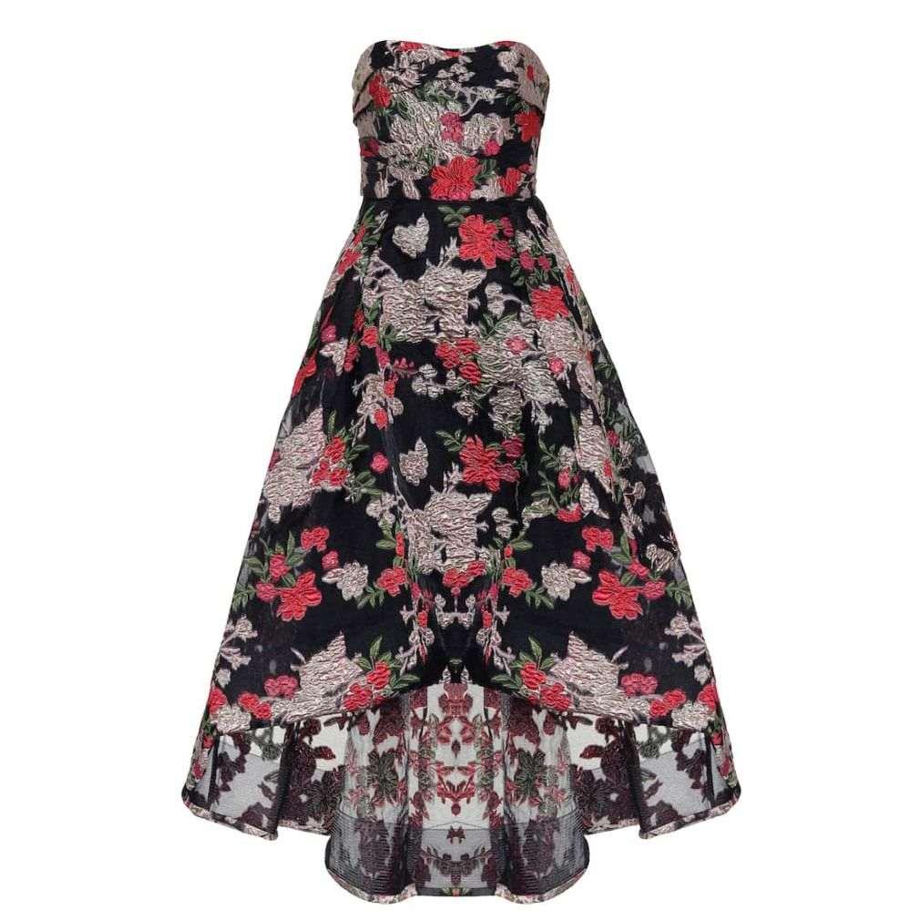 ノッテ バイ マルケッサ Marchesa Notte レディース パーティードレス ワンピース・ドレス【Floral fil-coupe strapless gown】Black