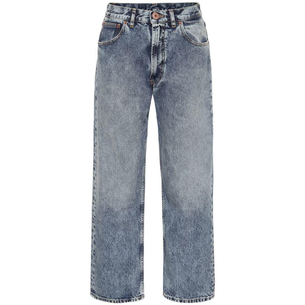 メゾン マルジェラ Maison Margiela レディース ジーンズ・デニム ボトムス・パンツ【Low-rise straight jeans】Blu Denim Used