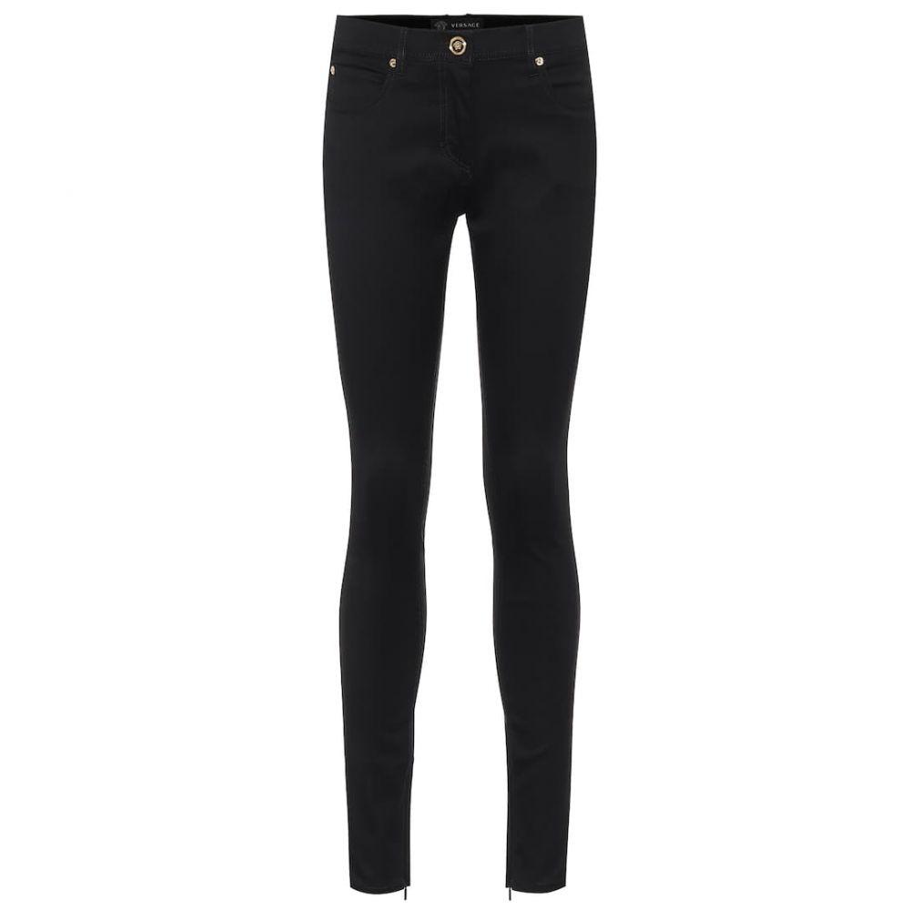 ヴェルサーチ Versace レディース ジーンズ・デニム ボトムス・パンツ【Stretch-cotton skinny jeans】Denim Black