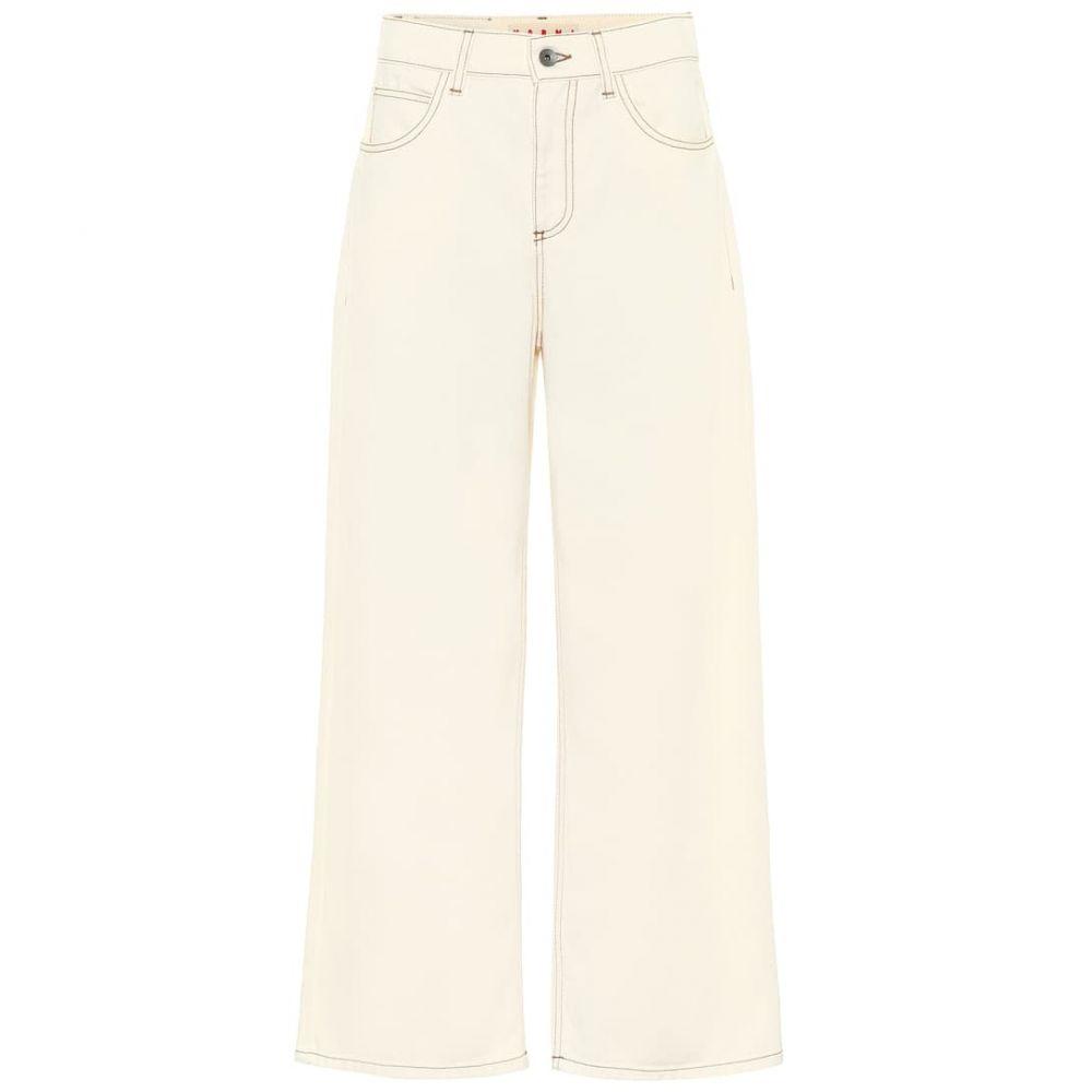 マルニ Marni レディース ジーンズ・デニム ボトムス・パンツ【High-rise wide-leg jeans】Glass