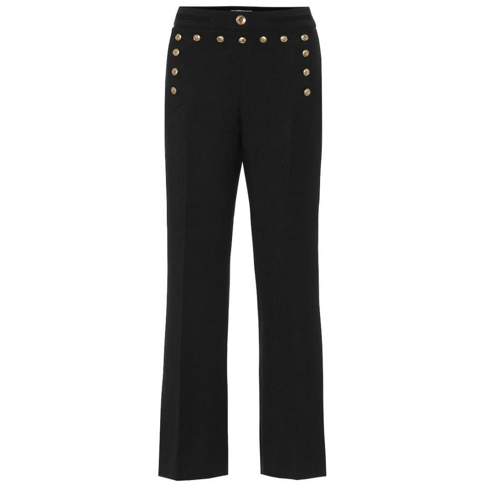 ジバンシー Givenchy レディース ボトムス・パンツ 【Mid-rise flared wool pants】Black