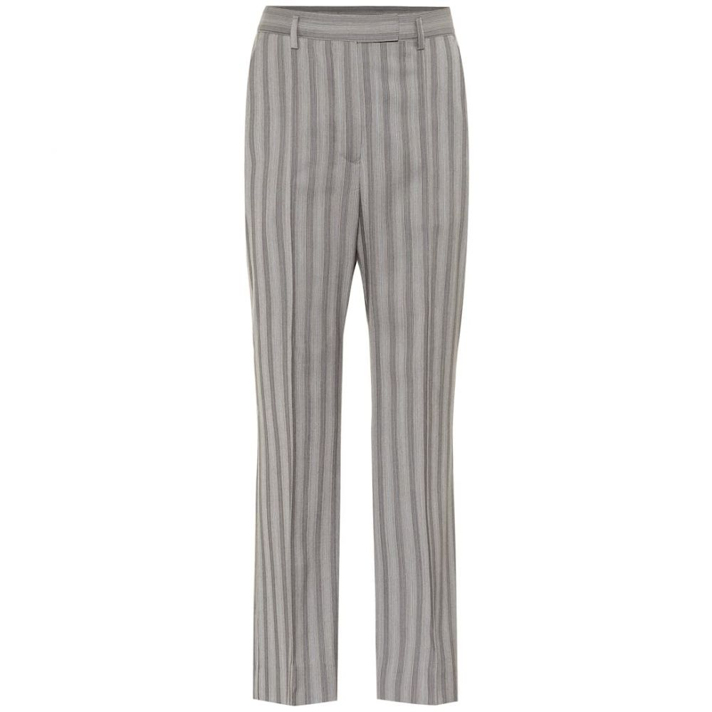 アクネ ストゥディオズ Acne Studios レディース ボトムス・パンツ 【Striped wool high-rise pants】Light Grey