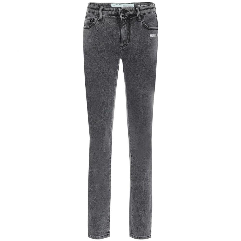 オフホワイト Off-White レディース ジーンズ・デニム ボトムス・パンツ【Mid-rise skinny jeans】Dark Grey Wash No Color