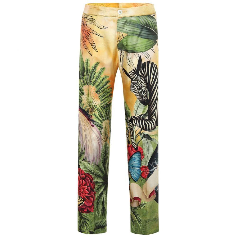フォーレストレススリーパーズ F.R.S For Restless Sleepers レディース ボトムス・パンツ 【Cleo printed silk pajama pants】Jungles Zebra