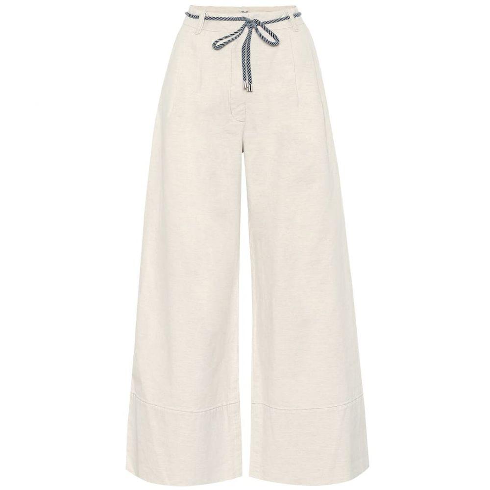 バウム ウンド ヘルガーデン Baum und Pferdgarten レディース ボトムス・パンツ 【Nour cotton and linen wide-leg pants】Creamy Beige