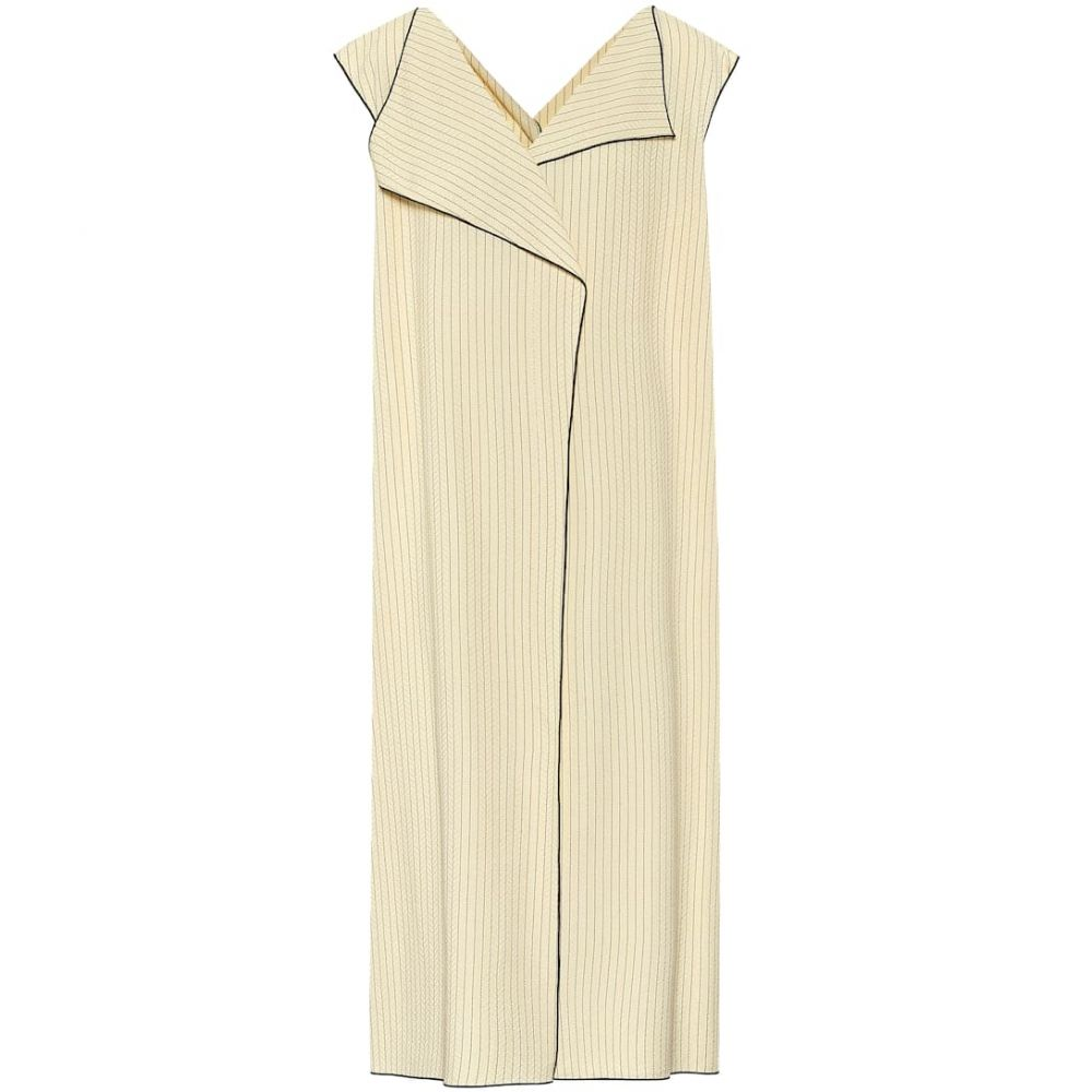 ザ ロウ The Row レディース ワンピース ワンピース・ドレス【Malka striped twill dress】Daffodil/Black