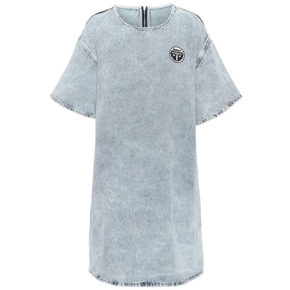 メゾン マルジェラ MM6 Maison Margiela レディース ワンピース ワンピース・ドレス【Denim minidress】Blue 80's Snow