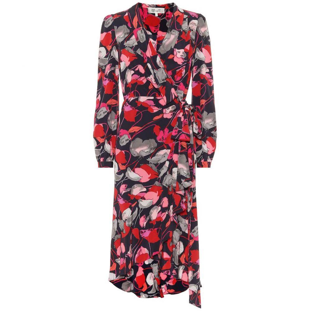 ダイアン フォン ファステンバーグ Diane von Furstenberg レディース ワンピース ラップドレス ワンピース・ドレス【Carla Two silk-crepe wrap dress】Floating Florals Night