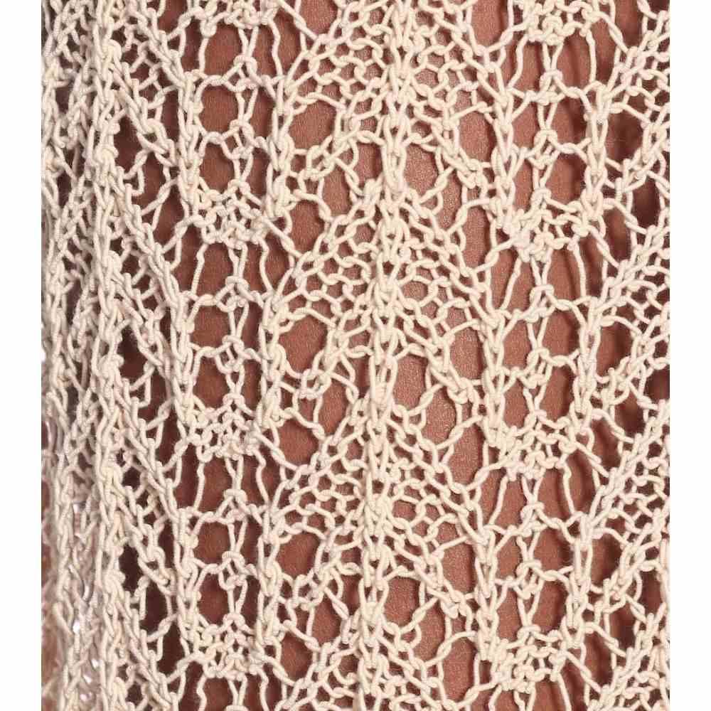 ジル サンダー Jil Sander レディース ワンピース ミドル丈 ワンピース・ドレス Crocheted cotton midi dress Light BeigeymN08vnwPO
