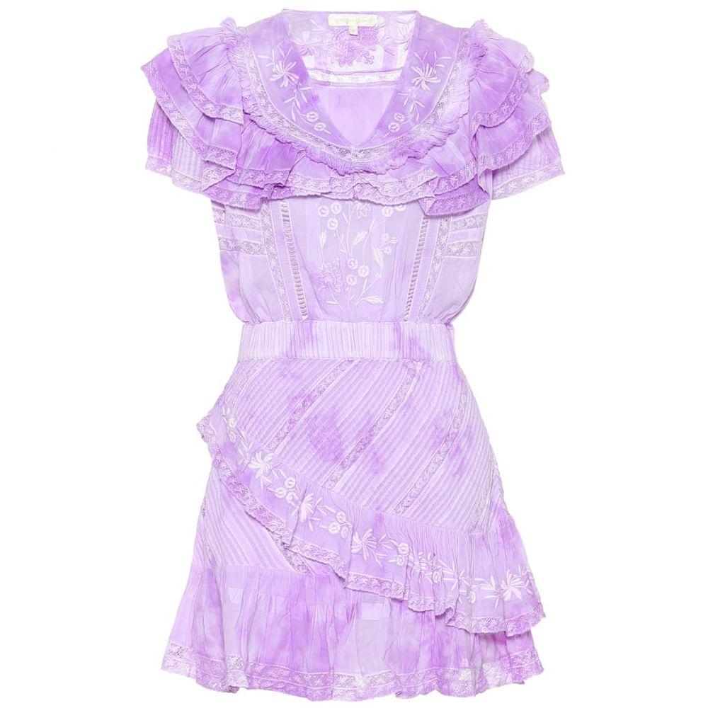 ラブシャックファンシー LoveShackFancy レディース ワンピース ワンピース・ドレス【Bonita embroidered cotton minidress】Lavender