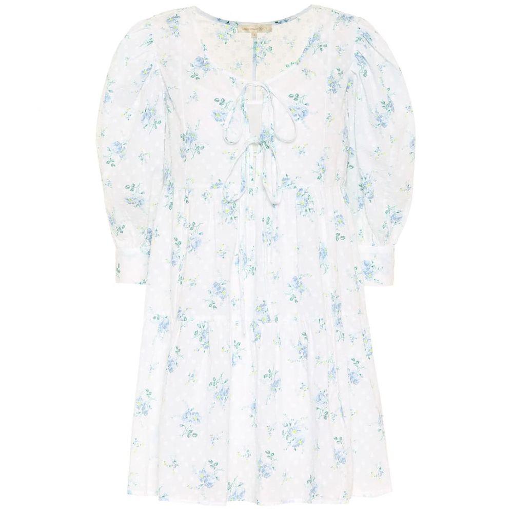 ラブシャックファンシー LoveShackFancy レディース ワンピース ミニ丈 ワンピース・ドレス【Mini Bex floral cotton minidress】White Sun