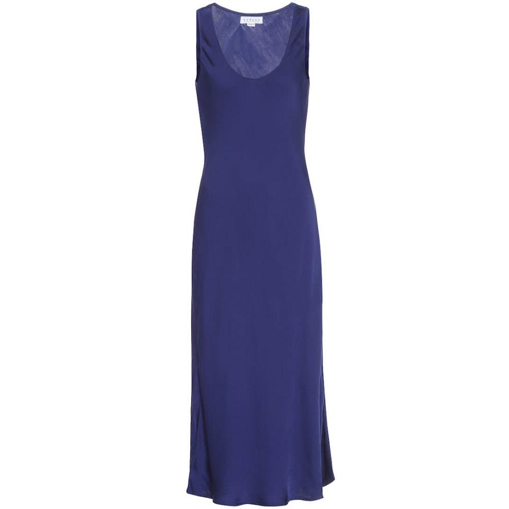 ベルベット グラハム&スペンサー Velvet レディース ワンピース スリップドレス ワンピース・ドレス【Satin slip dress】Naval