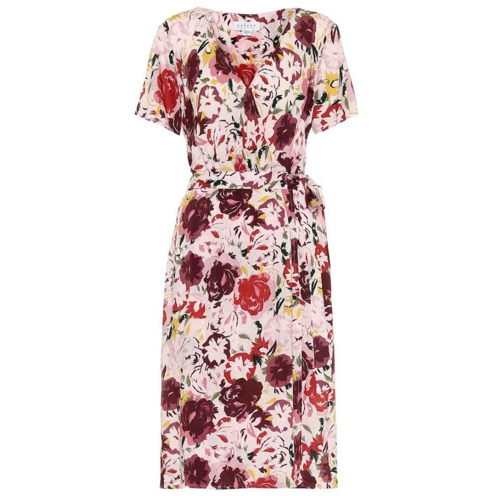 ベルベット グラハム&スペンサー Velvet レディース ワンピース ラップドレス ワンピース・ドレス【Rona floral wrap dress】Petunia