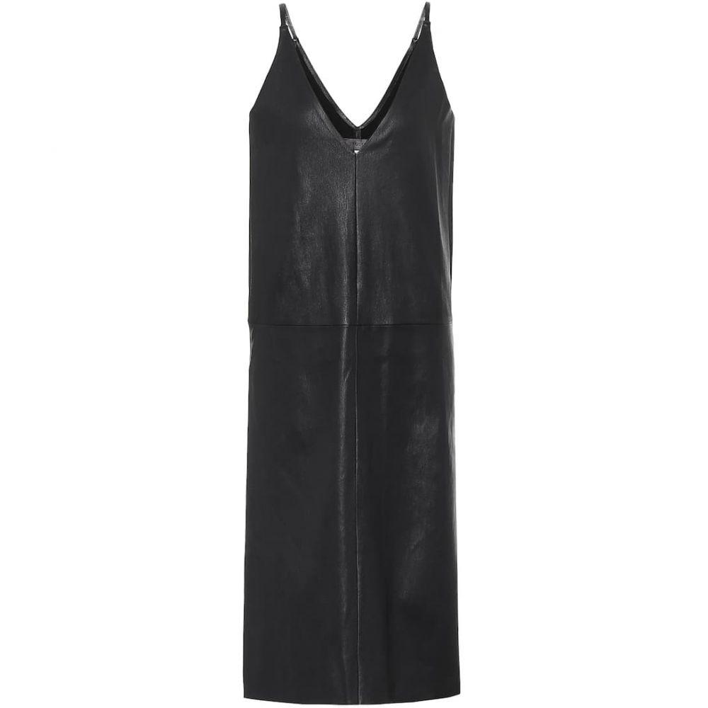 ストールス Stouls レディース ワンピース スリップドレス ワンピース・ドレス【Mahaut leather slip dress】Noir Light
