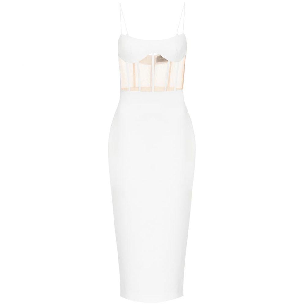 ロサリオ RASARIO レディース ワンピース ミドル丈 ワンピース・ドレス【Crepe midi dress】White