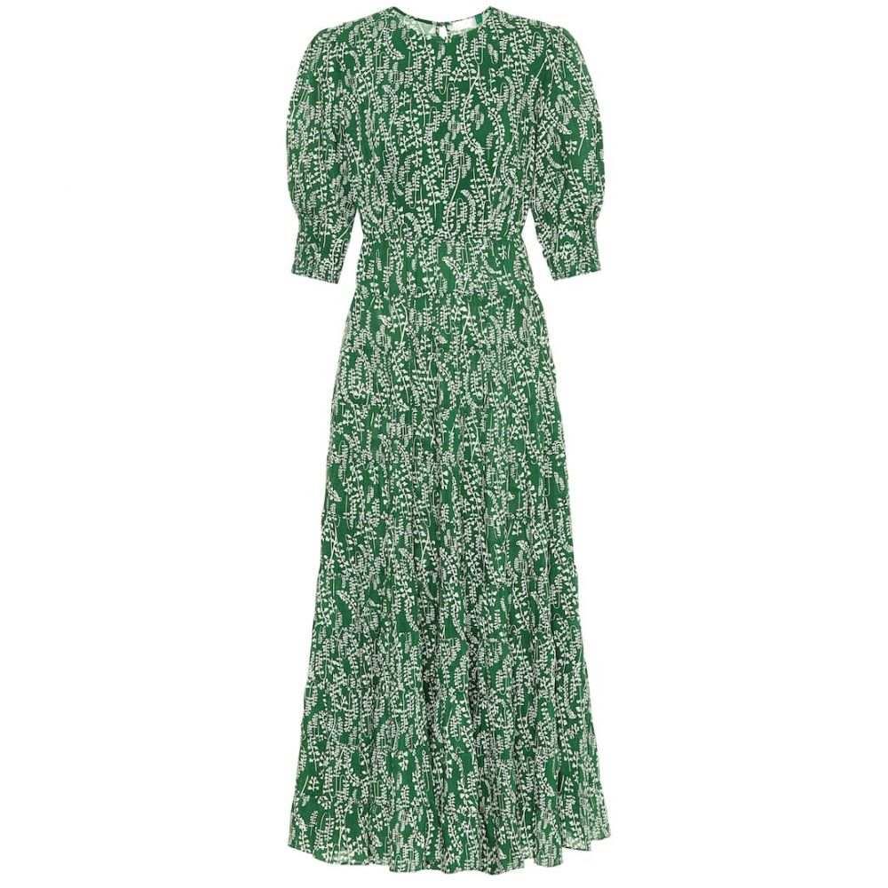 リキソ Rixo レディース ワンピース マキシ丈 ワンピース・ドレス【Kristen cotton-blend maxi dress】Tree Roots Green