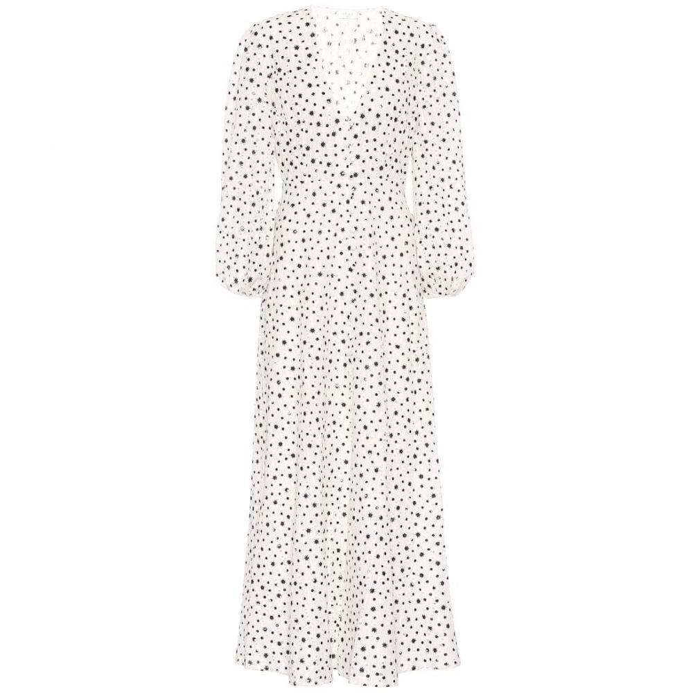 リキソ Rixo レディース ワンピース ワンピース・ドレス【Blair printed cotton dress】Wht Black