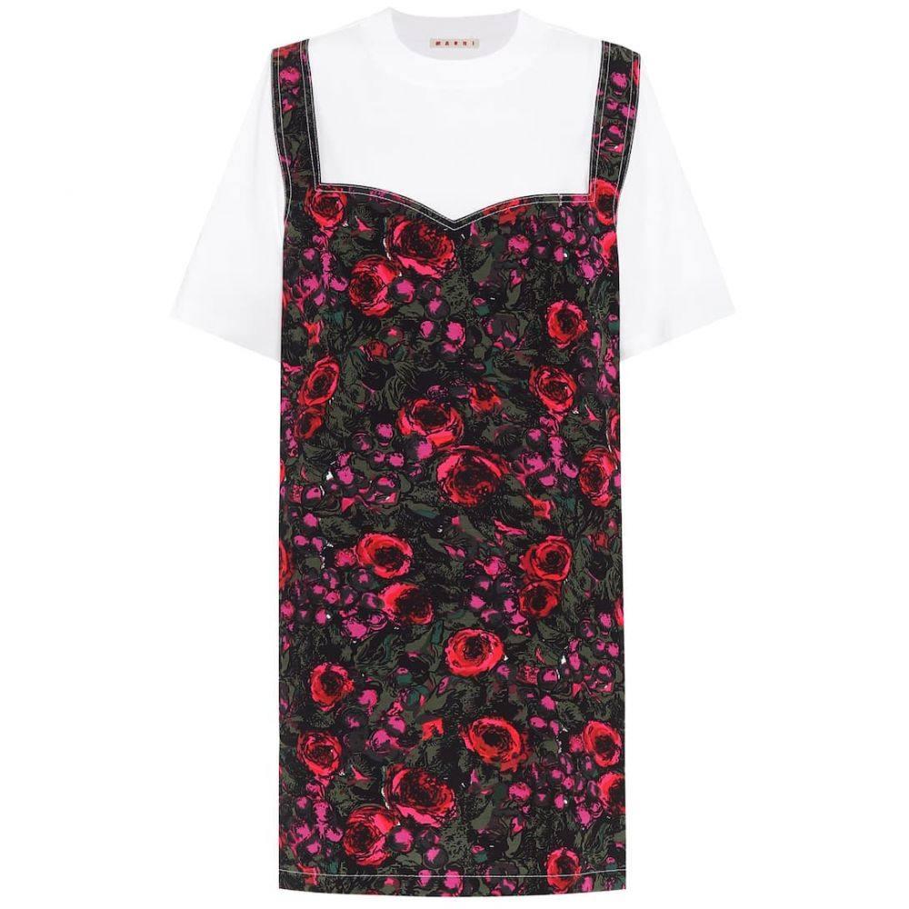 マルニ Marni レディース ワンピース Tシャツワンピース ワンピース・ドレス【Cotton T-shirt dress】Lily White/Starlight Pink
