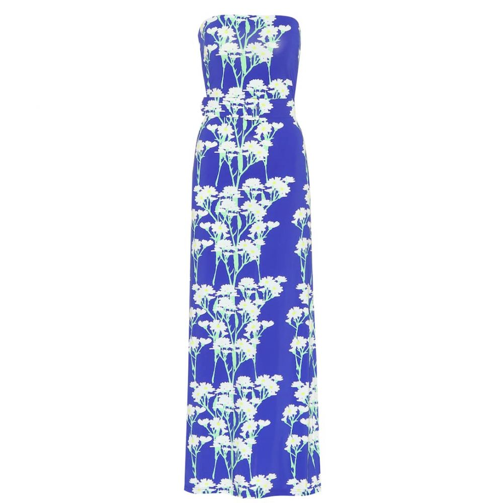 ベルナデッタ Bernadette レディース ワンピース マキシ丈 ワンピース・ドレス【Carrie stretch-jersey maxi dress】Daisy White/Blue