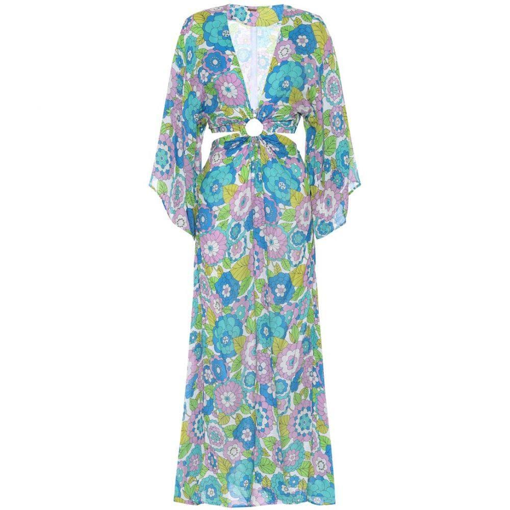 ドド バー オア Dodo Bar Or レディース ワンピース ミドル丈 ワンピース・ドレス【Floral cotton midi dress】Blue
