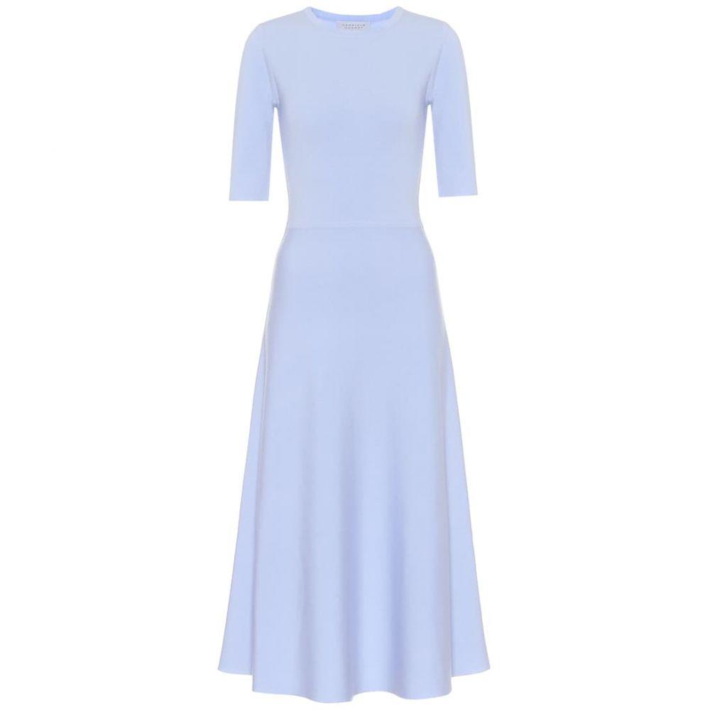 ガブリエラ ハースト Gabriela Hearst レディース ワンピース ワンピース・ドレス【Seymore wool-blend dress】Light Blue