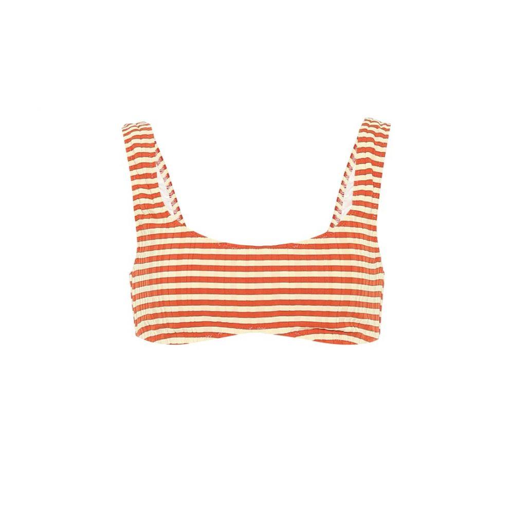 ソリッド&ストライプ Solid & Striped レディース トップのみ 水着・ビーチウェア【The Elle striped bikini top】Bronze Rib-Striperib-Blo