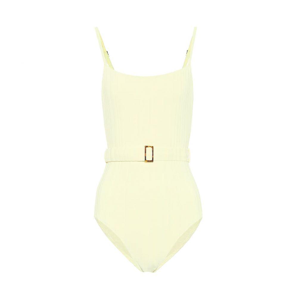 ソリッド&ストライプ Solid & Striped レディース ワンピース 水着・ビーチウェア【The Nina belted swimsuit】Ombre Rib - Blonde