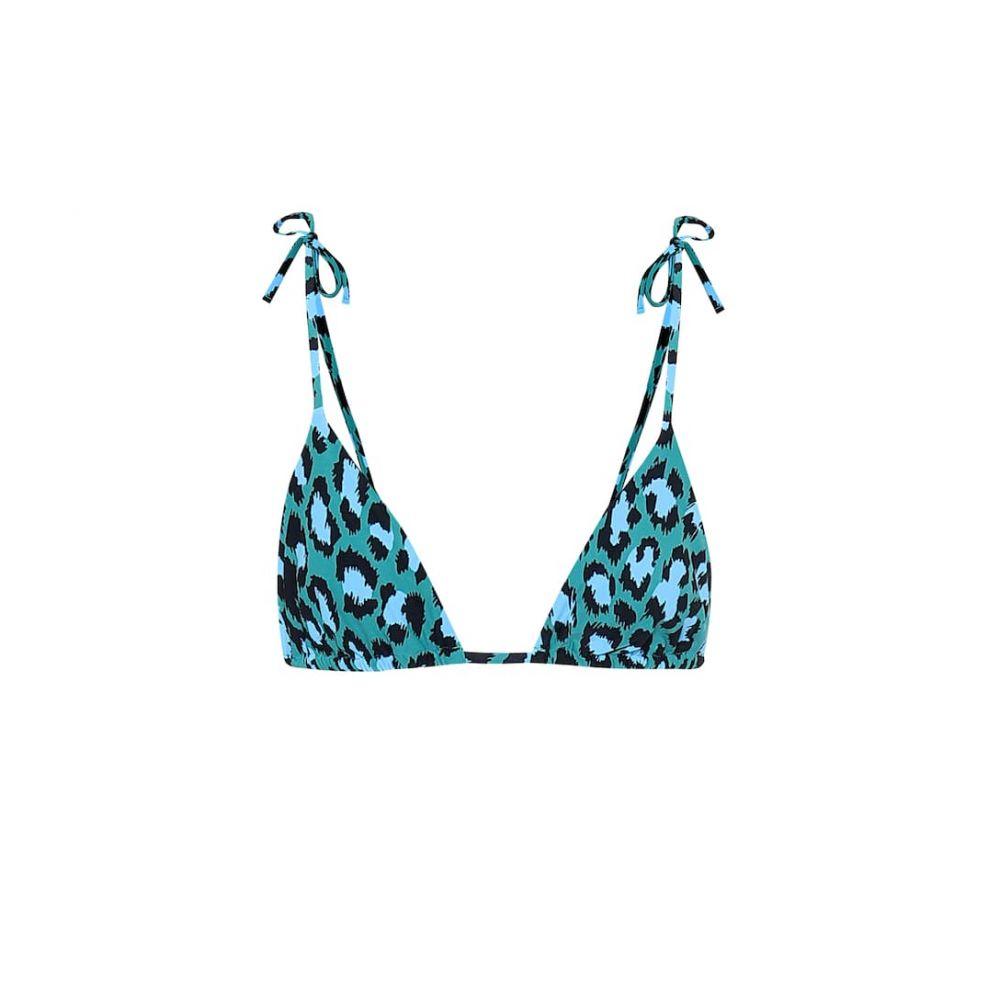 ダイアン フォン ファステンバーグ Diane von Furstenberg レディース トップのみ 水着・ビーチウェア【Avery leopard-print bikini top】Natural Leopard Simple Evergrn