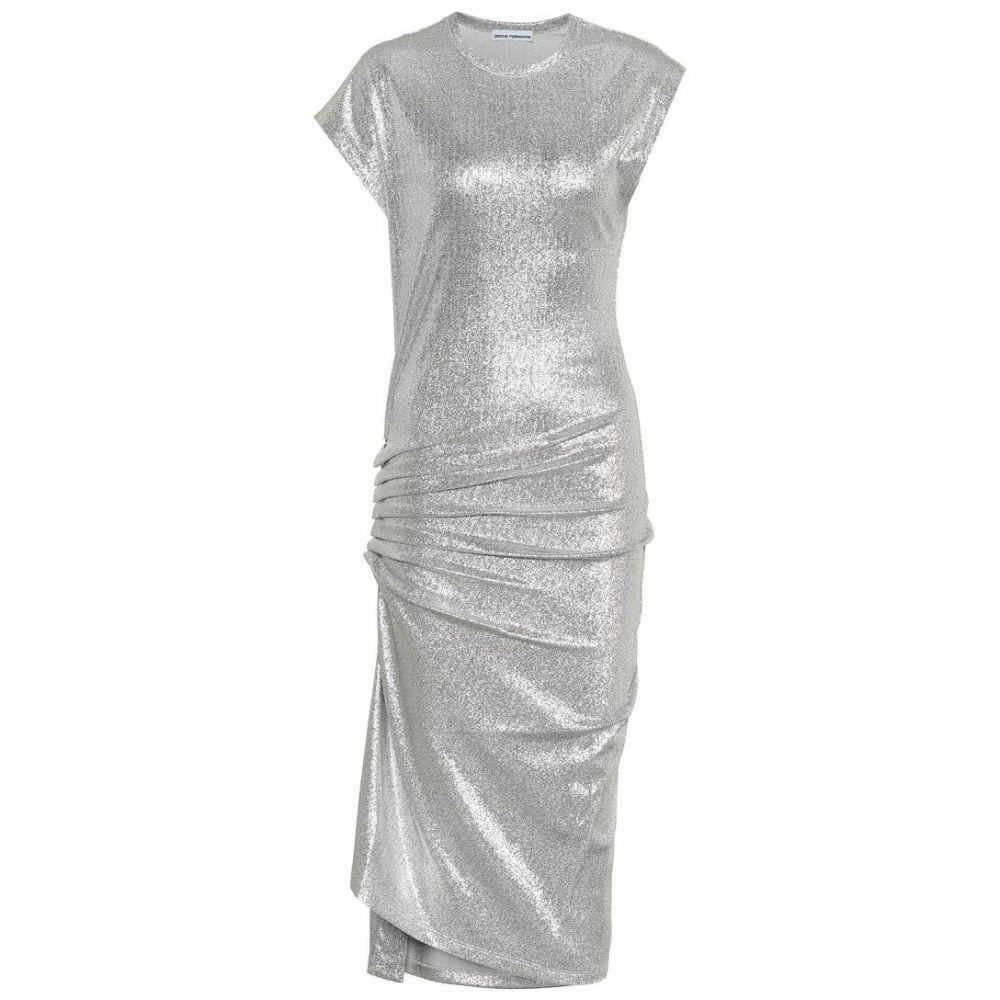 パコラバンヌ Paco Rabanne レディース ワンピース ワンピース・ドレス【Metallic jersey dress】Silver