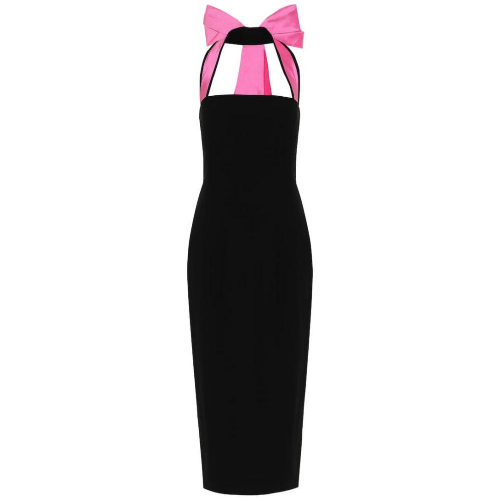 ロサリオ RASARIO レディース ワンピース ミドル丈 ワンピース・ドレス【Crepe midi dress】Black/Pink
