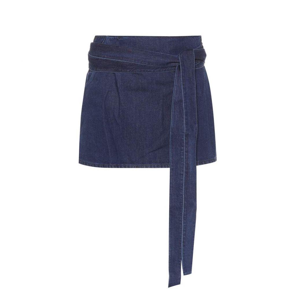 J.W.アンダーソン JW Anderson レディース ミニスカート スカート【Cotton and linen miniskirt】Indigo