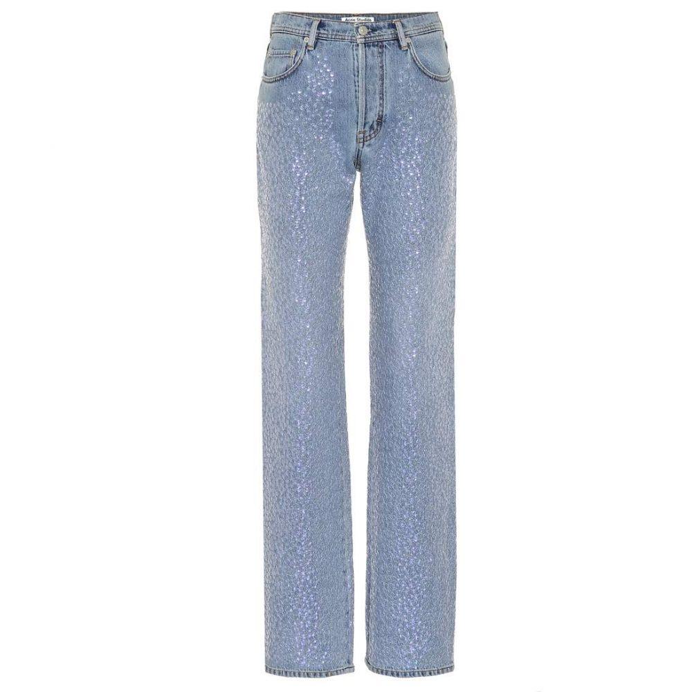 アクネ ストゥディオズ Acne Studios レディース ジーンズ・デニム ボトムス・パンツ【Tisi sequin-embellished jeans】Blue Vintage