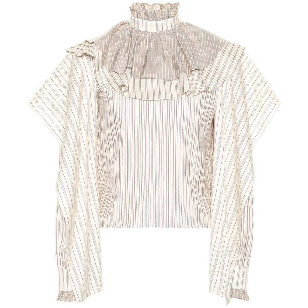 J.W.アンダーソン JW Anderson レディース ブラウス・シャツ トップス【Striped silk blouse】Calico
