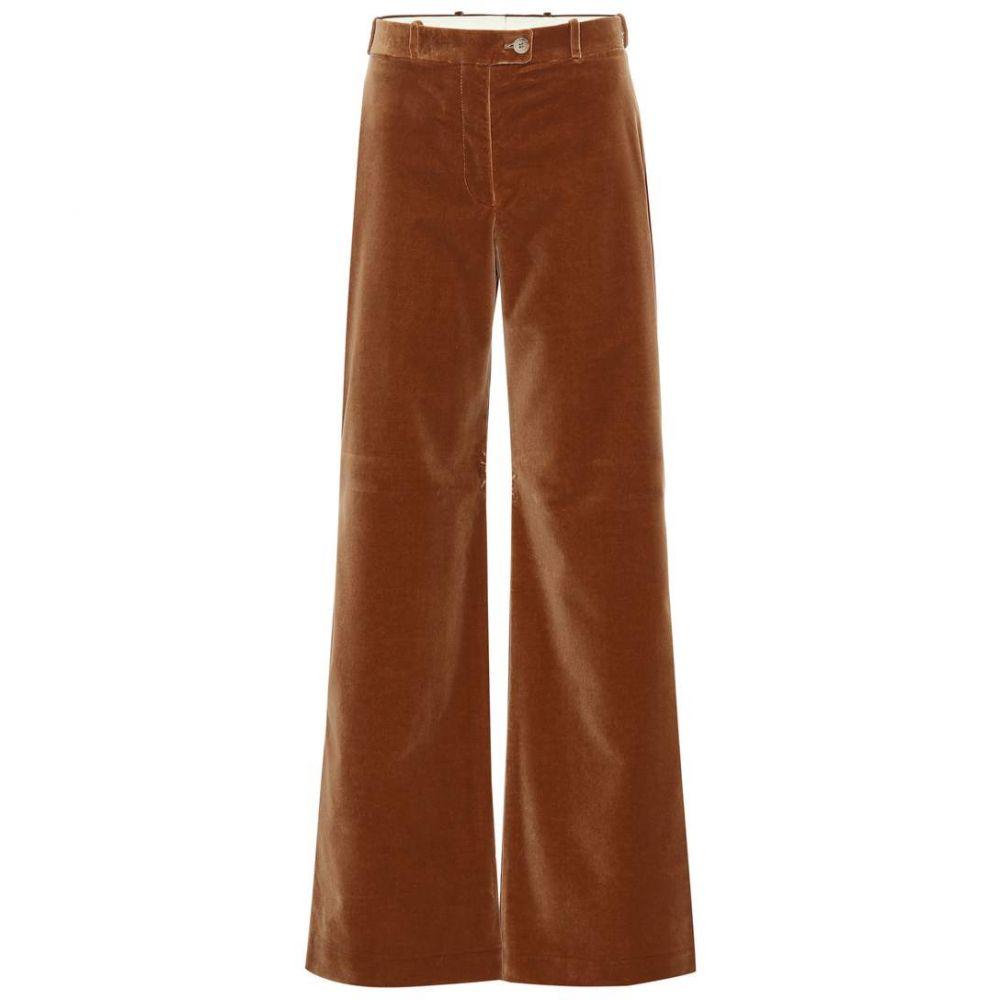 アクネ ストゥディオズ Acne Studios レディース ボトムス・パンツ 【High-rise flared velvet pants】camel brown