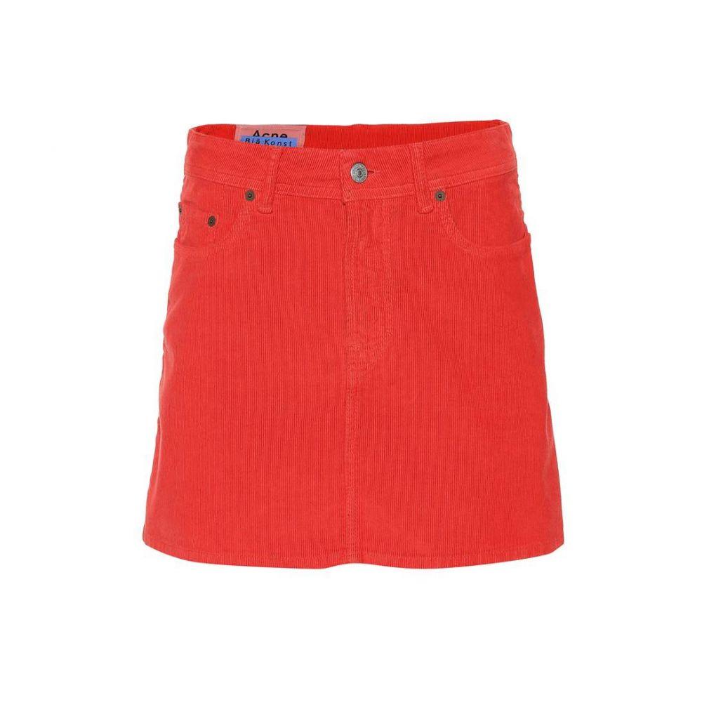 アクネ ストゥディオズ Acne Studios レディース ミニスカート スカート【Bla Konst corduroy miniskirt】red