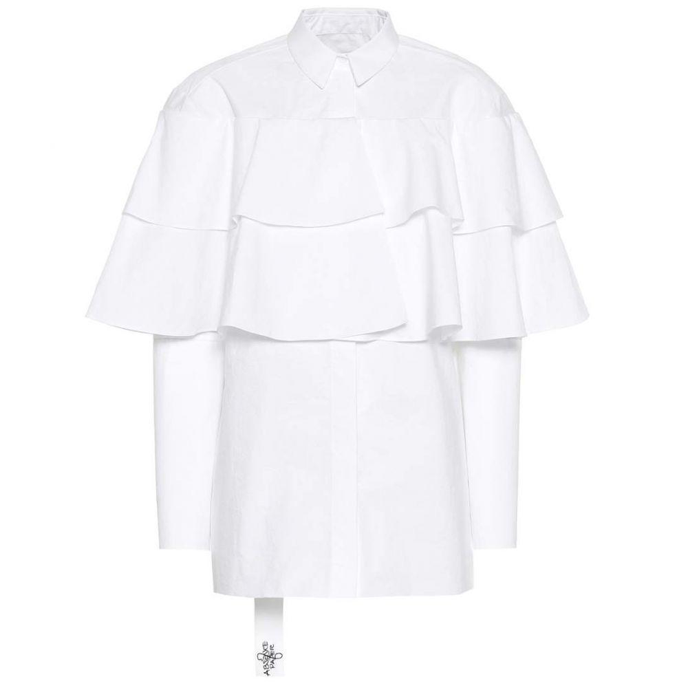 アブセンス オブ ペーパー Absence of Paper レディース ブラウス・シャツ トップス【Poppins cotton shirt】White